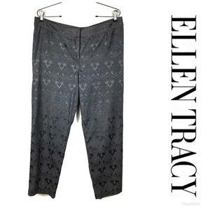 LIKE NEW ELLEN TRACY Embossed Crop Pants Sz 10